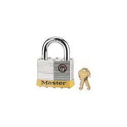 "Master Lock - 15KA LH - Alike-Keyed Padlock, Open Shackle Type, 2"" Shackle Height, Silver"