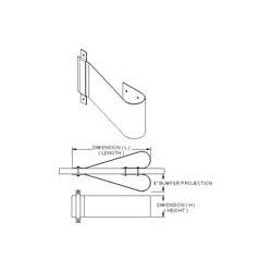 Bommer - 170-19-1.75-600 - 170-19-1.75-600 Bommer Kick Plate