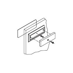 Rofu - 21047 - Rofu 21047 Housing designed for glass door installations for 8005 in US28 finsh
