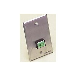 Securitron / Assa Abloy - PB3EA - Securitron PB3EA Request to exit station square push button on single gang plate, alternate