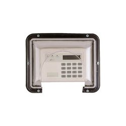 Safety Technology - 7500B - STI-7500B Mini mega stopper, polycarbonate enclosure for keypads and annunciators, flat cover w/interior key lock w/solid enclosed backbox and double gang electrical box