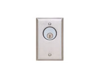 Security Door Controls - 702U - Key Switch, 2-7/8 in. W, Momentary SPDT