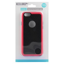 Accellorize - 35004 - Accellorize 35004 Black Pink Protective Case For Iphone 6