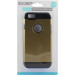 Accellorize - 35007 - Accellorize 35007 Gold Black Protective Case For Iphone 6