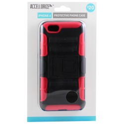 Accellorize - 35009 - Accellorize 35009 Black & Red Protective Case For Iphone 6