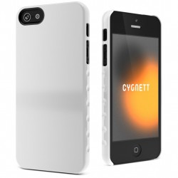 Cygnett - CY0832CPAEG - Cygnett AeroGrip Form Snap-on Case iPhone 5 - iPhone - White - Glossy - Polycarbonate