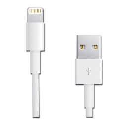 RCA - AH750Z - RCA(R) AH750Z Charge & Sync USB Cable with Lightning(R) Connector, 3ft (White)