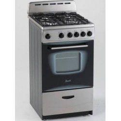 Avanti - GR2013CSS - Avanti Model GR2013CSS - 20 Gas Range - Freestanding - 20 Wide - Single Oven - 16.46 gal - 4 Cooking Elements - Stainless Steel
