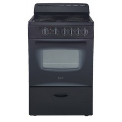 Avanti - ER24P1BG - Avanti Model ER24P1BG - 24 Electric Range - Freestanding - 24 Wide - Single Oven - 19.45 gal - 4 Cooking Elements - Black