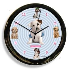 California Clock - 41602 - California Clock 41602 Headphones Dog Clock By Designer
