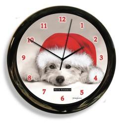 California Clock - 41615 - California Clock 41615 Black And White Dog Clock By Designe
