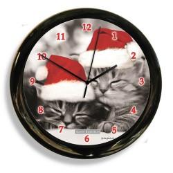 California Clock - 41616 - California Clock 41616 Black And White Cat Clock By Designer