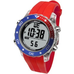 Pyle / Pyle-Pro - PSNKW30P - Pyle PSNKW30P Smart Watch - Wrist - Thermometer - Alarm - Red - Sports - Water Resistant