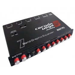 Cerwin Vega - EQ770 - Cerwin Vega's Mobile EQ-770 Car Equalizer - Parametric - Bass - 7 Band - Black