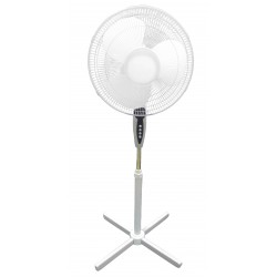 Optimus - F1860 - Optimus F1860 White 18in Oscillating Stand Fan With 3 Speed