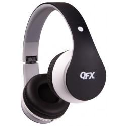 QFX - H251BTBLK - Qfx H251btblk Black Bluetooth Headphones Folding Stereo Fm