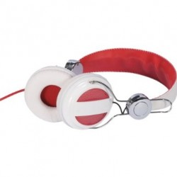 Audiovox - HP5041 - Rca Hp5041 White/red Ampz Headphone Full Size Nickel Plated