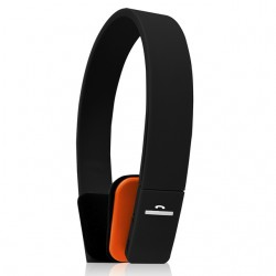 Xit - AXTBTH618OR - Xit Axtbth618or Orange Bluetooth Headphones With 2 And Half