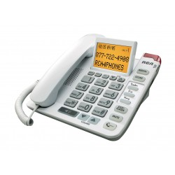 RCA - 1124-1WTGA - Legend Series Amplified Big Button Corded Phone with Caller ID, White