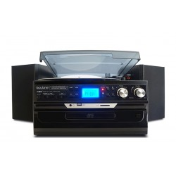 Boytone - BT24DJB - Boytone Bt24djb Black Home 7 In 1 Turntable System Bluetooth