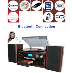 Boytone - BT24DJM - Boytone Bt24djm Mohogany Home Turntable System