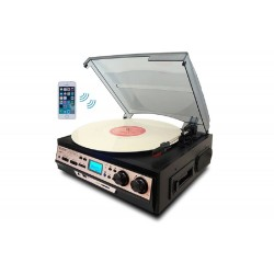 Boytone - BT27RC - Boytone Bt27rc Black Turntable 7 In 1 3 Speed With Built In