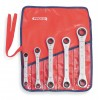 Proto - J1190LO - Ratcheting Wrench Set, Double Box End, SAE, Number of Pieces: 5