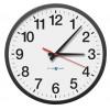 "Pyramid Technologies - 9A13AG - 13-1/4"" Wall Mount Round Analog RF Wireless Synchronized Analog Clock, Black"