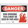 "Ampco Safety Tools - DANGER SIGN - Electrical Hazard, Danger, 14"" x 10"", Surface"
