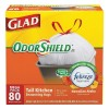 Glad - 78901 - 13 gal. Extra Heavy Drawstring Trash Bags, White, Coreless Roll of 80