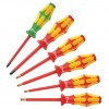 Wera Tools - 05347777001 - Phillips/Slotted/Square Insulated Screwdriver Set, Multicomponent, Number of Pieces: 6