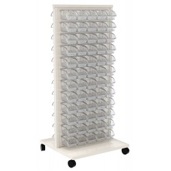 Akro-Mils / Myers Industries - 30553A1 - 24-5/8 x 23 x 52 Mobile Louvered Floor Rack with 150 lb. Load Capacity, White