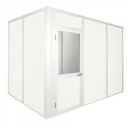 Porta-King - VK1STL-WCM 8'X8' 4-WALL - Modular In-Plant Office, 4Wall, 8x8