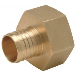 Zurn - QQUFC66GX - Low Lead Brass PEX and Pipe Adapter, PEX x FNPT Nonswivel Connection Type, 1-1/4 PEX Size