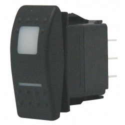 Carling - VJD1D66B-AS000-000 - Lighted Rocker Switch, Contact Form: DPDT, Number of Connections: 7, Terminals: 0.250 Quick Connect