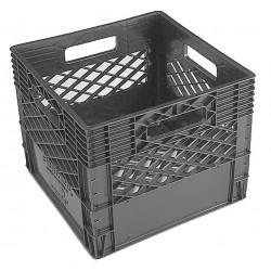 Orbis - DA1000 BLACK - Straight Wall Container, Black, 11H x 13-1/8L x 13-1/8W, 1EA