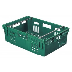 Orbis - AF2416-6 GREEN - Stack and Nest Container, Green, 7-1/2H x 23-3/4L x 16W, 1EA