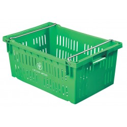 Orbis - AF2416-10 GREEN - Stack and Nest Container, Green, 10-1/4H x 23-5/8L x 15-3/4W, 1EA