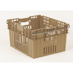 Orbis - AF-21 BEIGE - Stack and Nest Container, Beige, 13-1/2H x 24L x 20W, 1EA