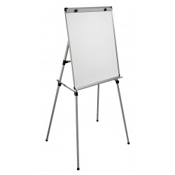 Ghent - 1040M3 - Gloss-Finish Steel Dry Erase Board, Easel Mounted, Portable/Carry, 38H x 27W, White
