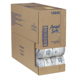 "Georgia Pacific - 16840 - Angel Soft PS Bath Tissue Roll - 2 Ply - 4"" x 4.05"" - 450 Sheets/Roll - White - Soft - For Food Service, Office Building - 40 / Carton"