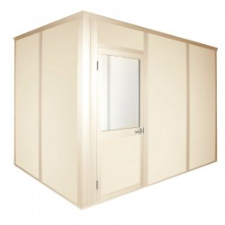 Porta-King - VK1STL-BCM 8'X12' 4-WALL - Modular In-Plant Office, 4Wall, 8x12