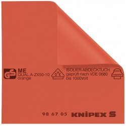 Knipex Tools - 98 67 05 - Insulated Mat, 19-11/16 x 19-11/16 In, Red