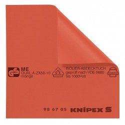 Knipex Tools - 98 67 10 - Insulated Mat, 39-3/8 x 39-3/8 In, Red