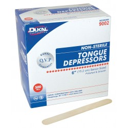 Unimed-Midwest - DNTD313312 - Tongue Depressor, Non-Sterile, 2/3 Width, 6 Length