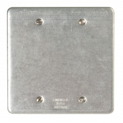 Appleton Electric - FSK-2B-A - Appleton FSK-2B-A FS/FD Cover, 2-Gang, Blank, Vapor Proof, Aluminum