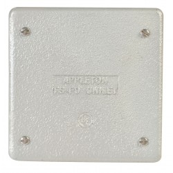 Appleton Electric - FSK-2B-CA - Appleton FSK-2B-CA FS/FD Cover, 2-Gang, Blank, Vapor Proof, Aluminum