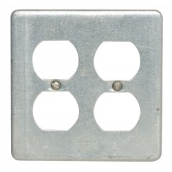 Appleton Electric - FSK-2DR-A - Appleton FSK-2DR-A FS/FD Duplex Receptacle Cover, 2-Gang, Aluminum