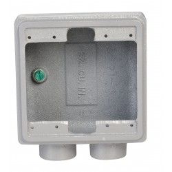 Appleton Electric - FSS-2-75-A - Weatherproof Electrical Box, 2-Gang, 2-Inlet, Aluminum