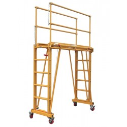 Telpro - 1101 - Rolling Work Platform, Steel, Dual Access Platform Style, 24 to 132 Platform Height
